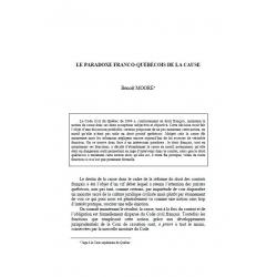 MOORE - Le paradoxe franco-québécois de la cause
