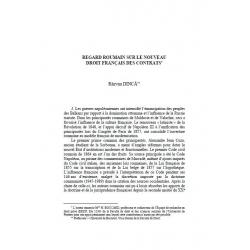 DINCĂ - Regard roumain sur le nouveau droit français des contrats