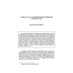 SAINTOURENS - Company law and the reforme of ordinary contract law