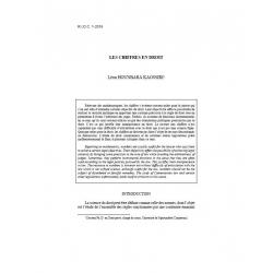 HOUNBARA KAOSSIRI - Les chiffres en droit