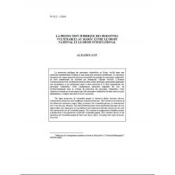 KAIROUANI - La protection juridique des personnes vulnérables au Maroc entre le droit national et le droit international