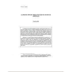 DO - La protection du tiers lésé par une sentence arbitrale