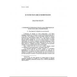 GILLEN - Le secret bancaire luxembourgeois