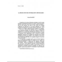 RAMEIX - La protection des informations privilégiées