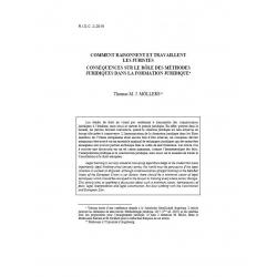M. J. MÖLLERS - Comment raisonnent et travaillent les juristes, conséquences sur le rôle des méthodes juridiques...