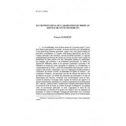 """BARRIÈRE - Le """"crowdfunding"""", ou l'adaptation du droit au service des investissements"""