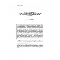 MAILHÉ - Un jeu d'asymétries : clauses d'élections de for optionnelles et asymétriques dans la jurisprudence française