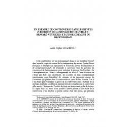 Un exemple de controverses dans les revues juridiques de la monarchie de juillet... - CHAMBOST