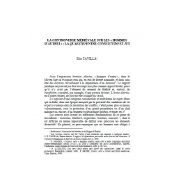 """La controverse médiévale sur les """"hommes d'autrui"""" : la quaestio entre consuetudo et jus - TAVILLA"""