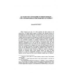 Le statut du cénotaphe en droit romain : une controverse entre Marcien et Ulpien ? - PATURET