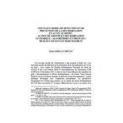 Action de groupe et discrimination systémique, algorithmes et préjugés (...) - MERCAT-BRUNS