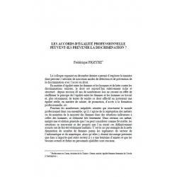 Les accords d'égalité professionnelle peuvent-ils prévenir la discrimination ? - PIGEYRE