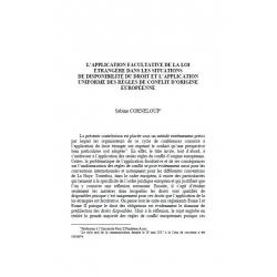 L'application facultative de la loi étrangère dans les situations de disponibilité du droit... - CORNELOUP