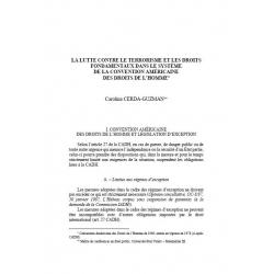 La lutte contre le terrorisme (...) la Convention américaine des droits de l'homme - CERDA-GUZMAN