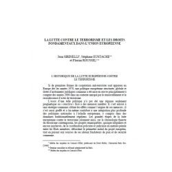 La lutte contre le terrorisme (...) dans l'Union européenne - SRINELLI et al.