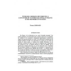 Etude des critiques récurrentes à l'encontre du système électoral en France et des réformes envisagées - EHRHARD