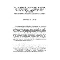 Les contrôles de constitutionnalité et de conventionnalité du droit étranger.... - OPERTTI BADAN
