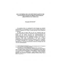 Les contrôles de constitutionnalité et de conventionnalité du droit étranger en Argentine et en Uruguay - MUNSCHY