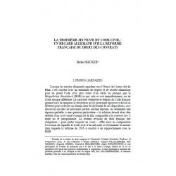 Le troisième jeunesse du Code civil : un regard allemand sur la réforme française du droit des contrats - HÄCKER