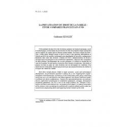 La privatisation du droit de la famille : étude comparée France/Etats-Unis - KESSLER
