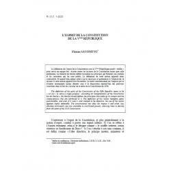 L'esprit de la Constitution de la Vème Répulique - SAVONITTO