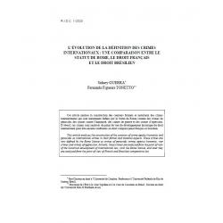 L'évolution de la définition des crimes internationaux... - GUERRA et TONETTO