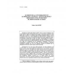 Le droit de la consommation et le droit des contrats : quelle destinée ?... - MNIF