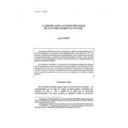 La protection constitutionnelle de l'environnement en Tunisie - NJEHI