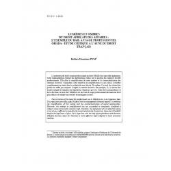 Lumières et ombres du droit africain des affaires... - PYM