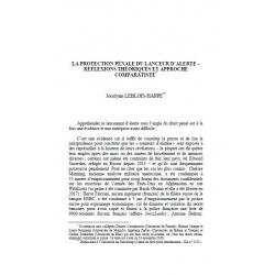 La protection pénale du lanceur d'alerte... - LEBLOIS-HAPPE