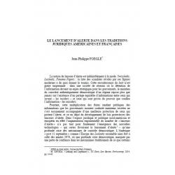 Le lancement d'alerte dans les traditions juridiques américaines et françaises - FOEGLE