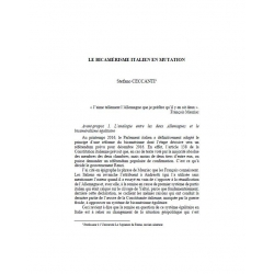 Le bicamérisme italien en mutation - CECCANTI