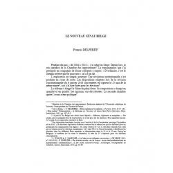 Le nouveau Sénat belge - DELPÉRÉE