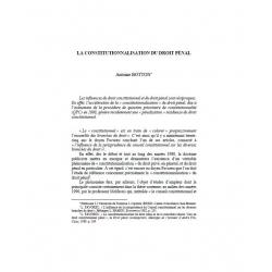 La constitutionnalisation du droit pénal - BOTTON