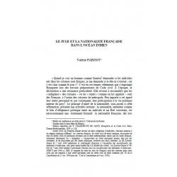 Le juge et la nationalité française dans l'océan indien - PARISOT