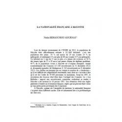 La nationalité française à Mayotte - BERGOUNIOU-GOURNAY