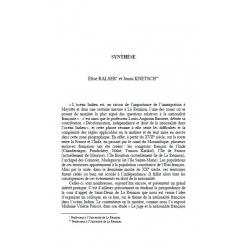 Synthèse - RALSER et KNETSCH
