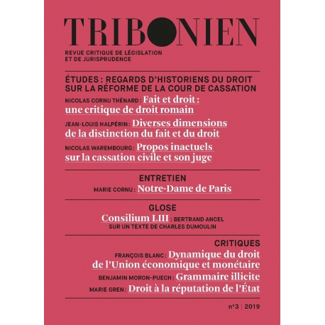 Tribonien (Envoi France, Abonnement annuel)