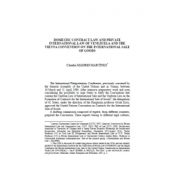 Domestic contract law and private international law of Venezuela... - MADRID MARTINEZ