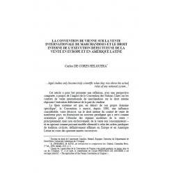 La convention de Vienne sur la vente  internationale de marchandise... - DE CORES HELGUERA