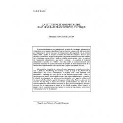 La citoyenneté administrative dans les états francophones d'Afrique - EDOUA BILONGO