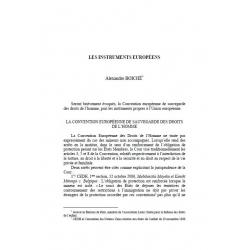Les instruments européens - BOICHÉ