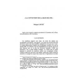 La Convention de la Haye de 1996 - LORTIE