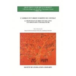 E-Livre - L'amorce d'un droit européen du contrat - La proposition de directive relative aux droits des consommateurs