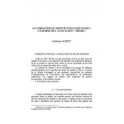 """Accompagner les mineurs étrangers isolés : l'exemple de l'association """"Thémis"""" - ALBERT"""