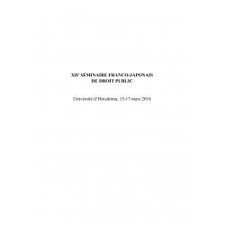XIIe séminaire franco-japonais de droit public