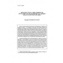 Rélfexions sur le cadre juridique du financement du développement en Afrique... - NGUIMFACK VOUFO
