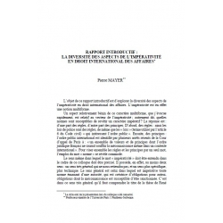 Rapport introductif : la diversité des aspects de l'impérativité en droit international des affaires - MAYER