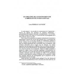 Les procédés de contournement de l'impérativité internationale - PERREAU-SAUSSINE